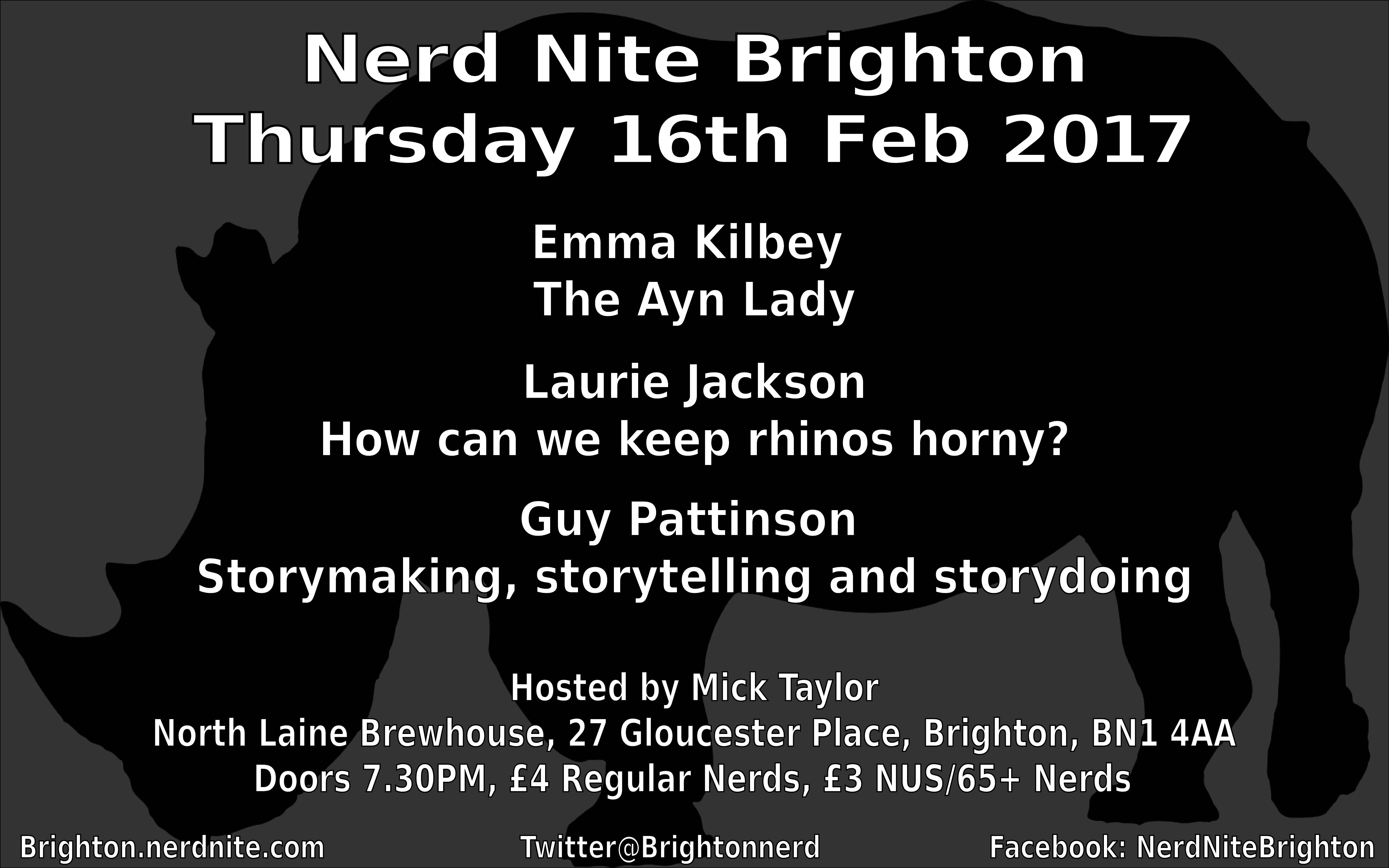 Nerd Nite Brighton Poster, Feb 17