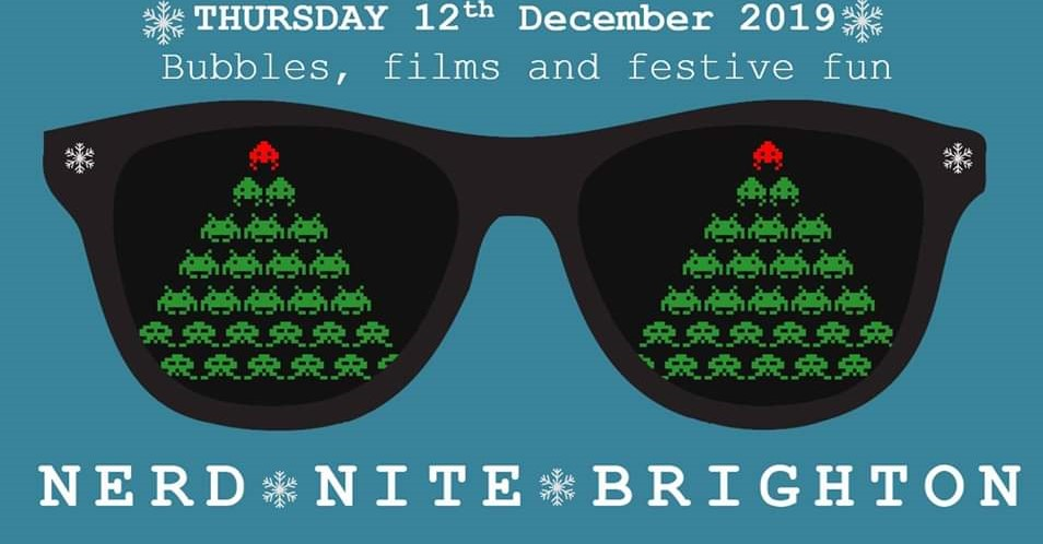 12 December poster - bubbles, films and festive fun